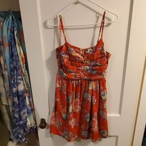 Red floral Roxy dress